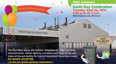 elk grove to open new waste facility as part of earth day