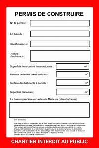 Panneau De Permis De Construire : mod le gratuit de panneau rigide recto 80 x 120 cm page 3 ~ Dailycaller-alerts.com Idées de Décoration