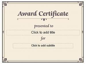 best minimalist award certificate template sample with With free funny award certificate templates for word