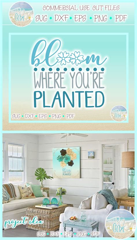 Search more high quality free transparent png images on pngkey.com and share it with your friends. Bloom Where You're Planted Quote SVG Dxf Eps Pdf PNG Files ...