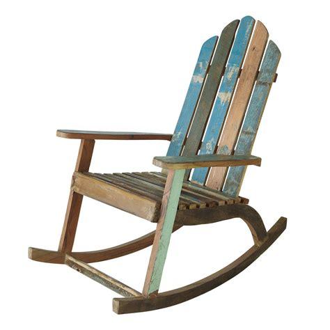 rocking chair chambre bébé fauteuil à bascule en bois recyclé calanque maisons du monde