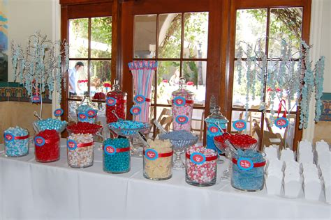 Crimson Red Turquoise Blue Wedding Candy Buffet Bowers