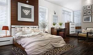 Tuananh, Eke, U2019s, Modern, Masculine, Bedroom, In, Taupe, And, Chocolate, With, White, Walls, And, Retro