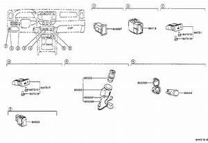 2005 Toyota Camry Windshield Wiper Switch  Engine