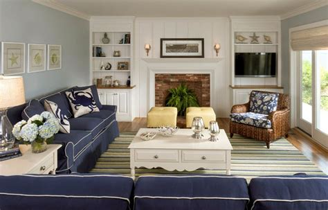 family room decor navy blue sofas how to use blue in your home interior 3666