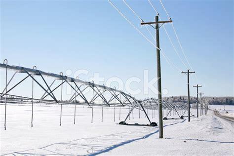 Winter Irrigation System Stock Photos