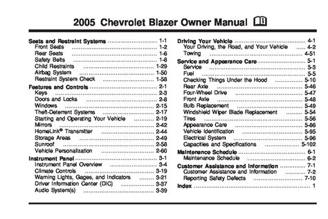 chevrolet blazer owners manual  give