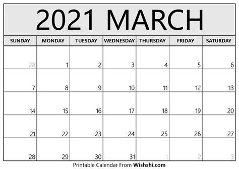 march  calendar printable  printable calendars