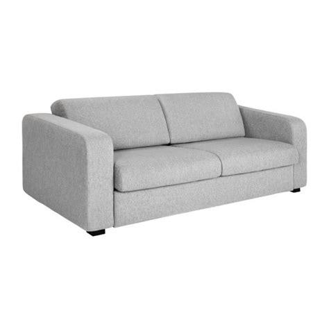 canapé lit habitat porto 3 canapé lit 3 places en tissu gris habitat