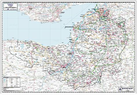 somerset including bristol county wall map paper