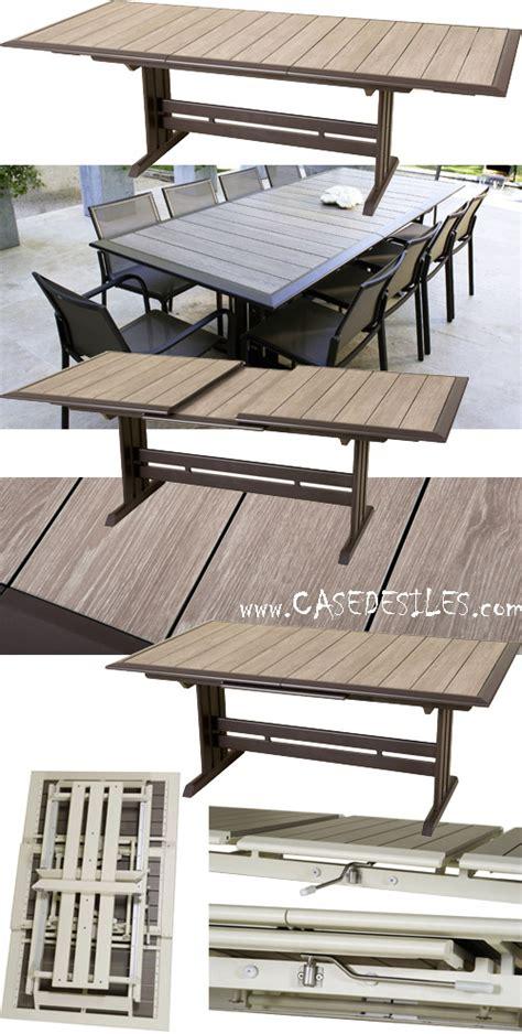 table jardin alu design extensible pliante 969 pas cher