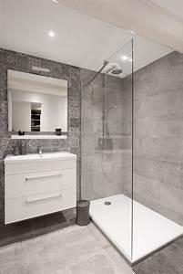 73 ideas de decoracion para banos modernos pequenos 2018 With carrelage adhesif salle de bain avec mini led downlights