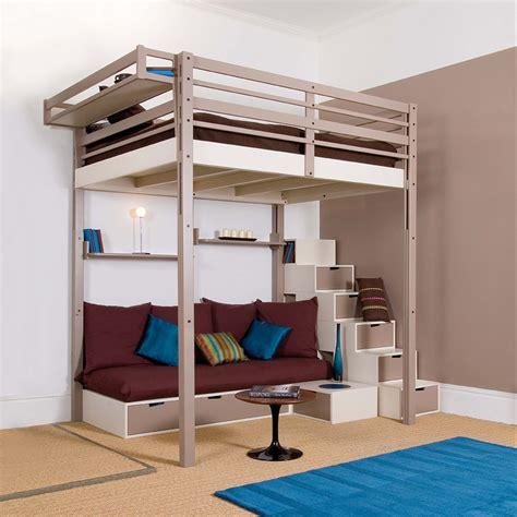 lit en hauteur avec canap lits mezzanines modulable