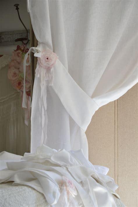 rideau lin volant dentelle blanche le grenier dalice