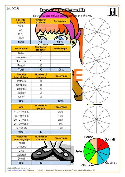 pie charts bar charts   graphs printable