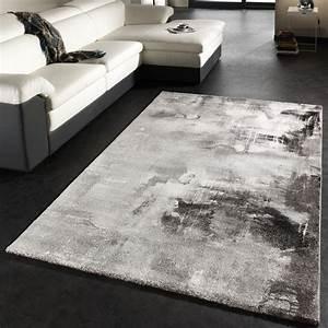 Teppich Schwarz Weiß : teppich modern designer teppich leinwand optik grau ~ A.2002-acura-tl-radio.info Haus und Dekorationen