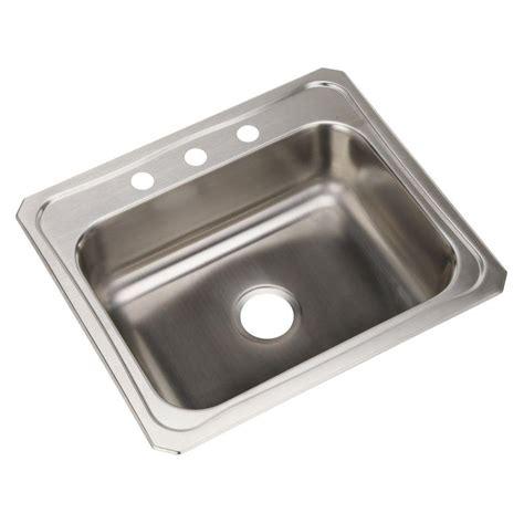 single bowl kitchen sink drop in elkay drop in stainless steel 25 in 3 9304