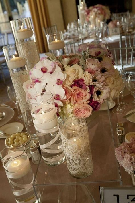 flowers lace and candles Love thissssss? Diy