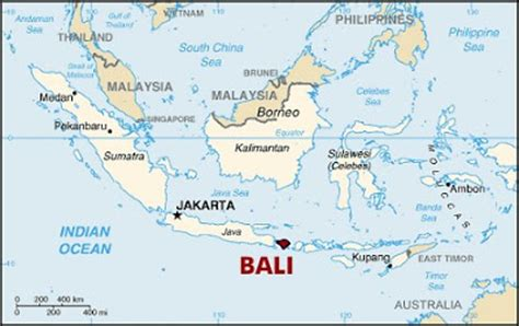bali tourist map bali location map