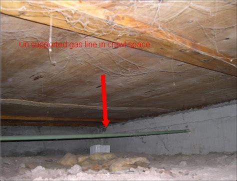 hidden dangers   crawl spaces gas lines  support