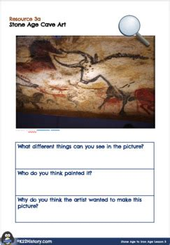 stone age cave art lesson  kshistory teachers pay