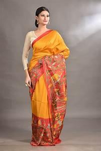 Saree Market  Pure Silk Saree Mustard Colour