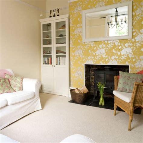 beautiful wallpaper  living room transform