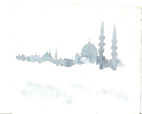 istanbul skyline mosque art islamic posters islamic