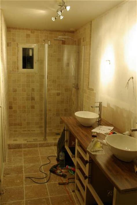 pose travertin dans salle de bain besoin conseils 9 messages