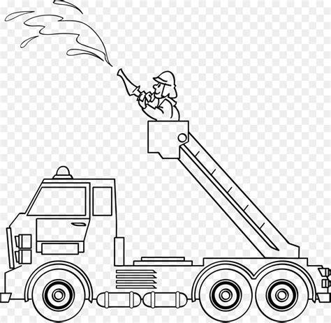 gambar mewarnai truk pemadam kebakaran