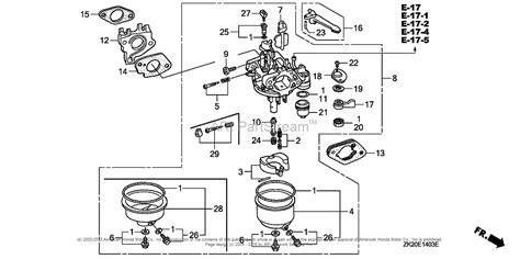 honda small engine carburetor diagram on gx240 huayi