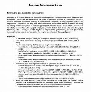 employee engagement survey 13 download free documents With employee engagement survey introduction letter
