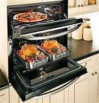 "single double oven PT925SNSS GE Profile 30"" Built-In Single/Double Convection ..."