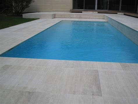 classic roman travertine modern pool  york