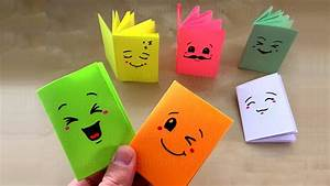Sachen Selber Machen : diy mini notizbuch basteln mit papier heftchen f r schule geschenk origami bastelideen ~ Watch28wear.com Haus und Dekorationen