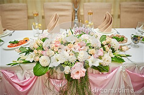 wedding table and groom decorated with flowers stock photo image 58340529