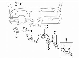 Toyota Sequoia Instrument Panel Wiring Harness  Switches