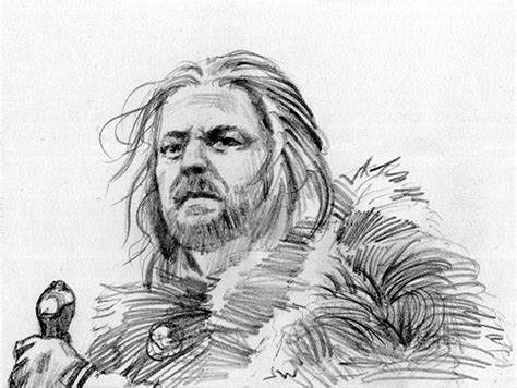 Ned Stark Game Of Thrones Sketch Card By Stungeon On