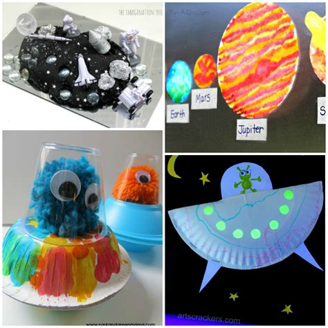 20 outer space crafts for i arts n crafts 420 | 20 Easy Space Kids Crafts