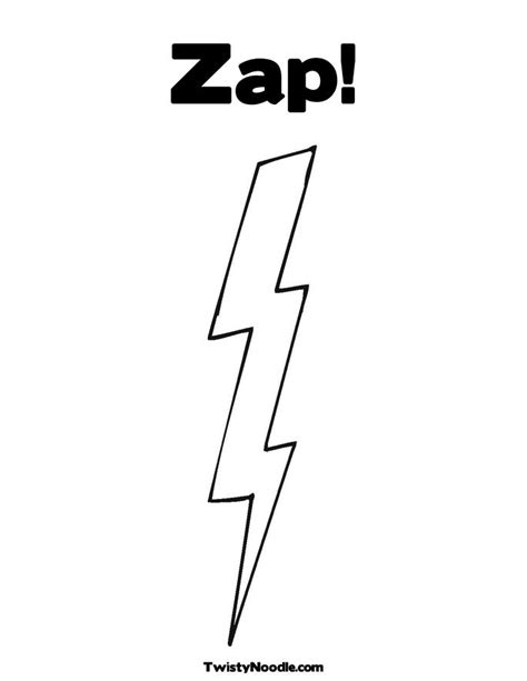 zap clipart black and white free lightning bolts coloring pages