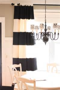 dazzling navy and white striped curtains decoration ideas