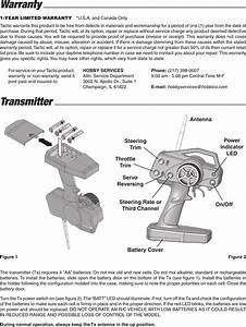 Hobbico Ttx240 2 4ghz Remote Control Transmitter User Manual