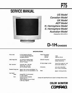 Compaq P75 Chassi D1h441 Sch Service Manual Download  Schematics  Eeprom  Repair Info For