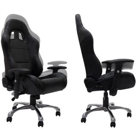 fauteuil de bureau sport baquet racing en cuir quot daytona quot noir