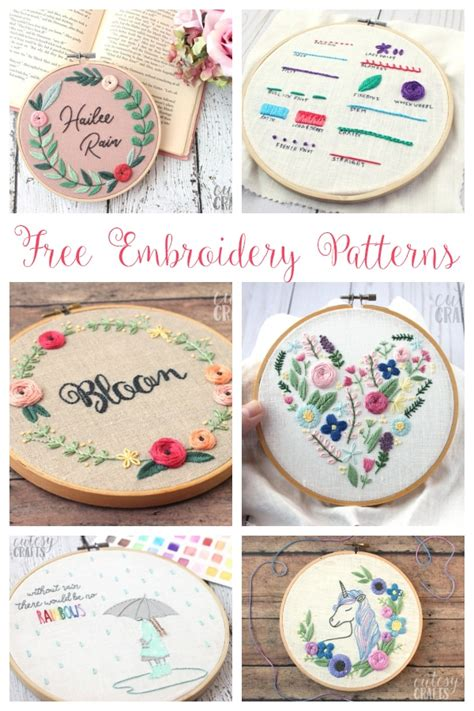 embroidery patterns cutesy crafts