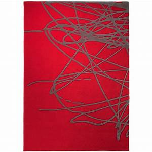 tapis design gris et rouge images With tapis rouge et gris