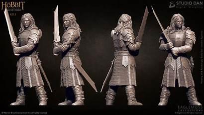 Hobbit 3d Studio Dan Kili Figurine Artstation