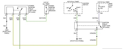 driver side power window wiring diagram the switch d1 which