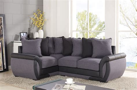 Grey Corner Settee by Corner Sofa Suites Settee Gray Charcoal Fabric 3 2 Seater