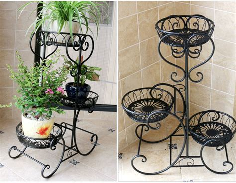 3 Pots European Balcony And Indoor Flower Pot Holder